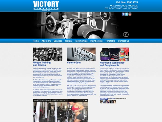 Victory-Gym-Website